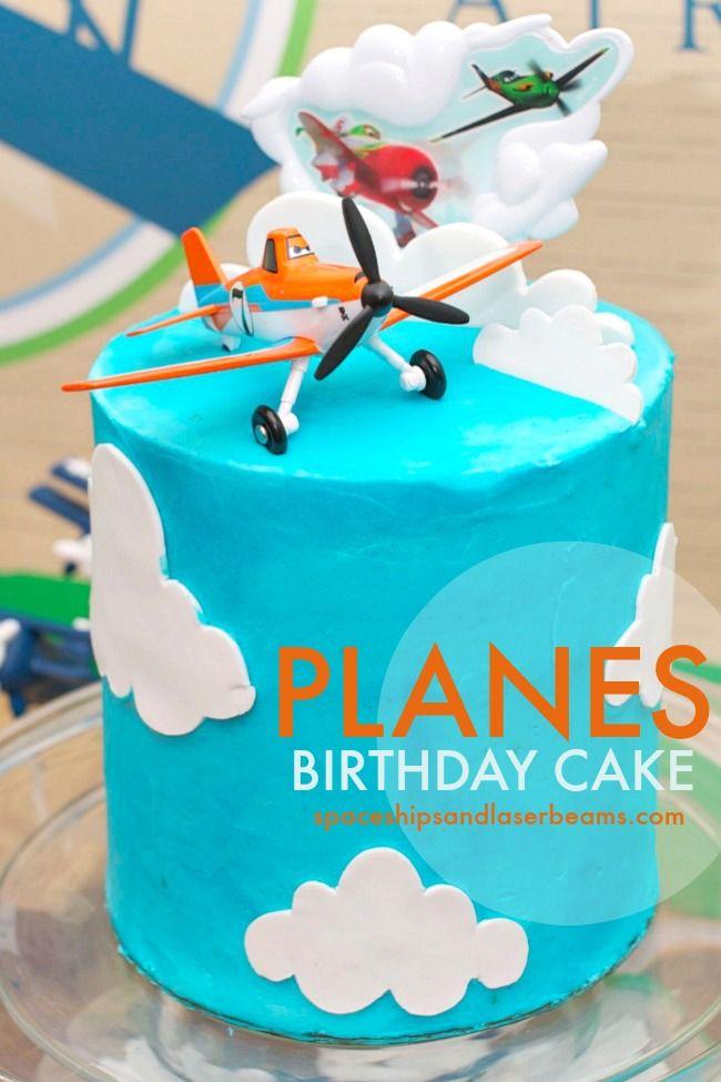 Sam's Disney Planes Themed Birthday Cake - Spaceships and Laser Beams