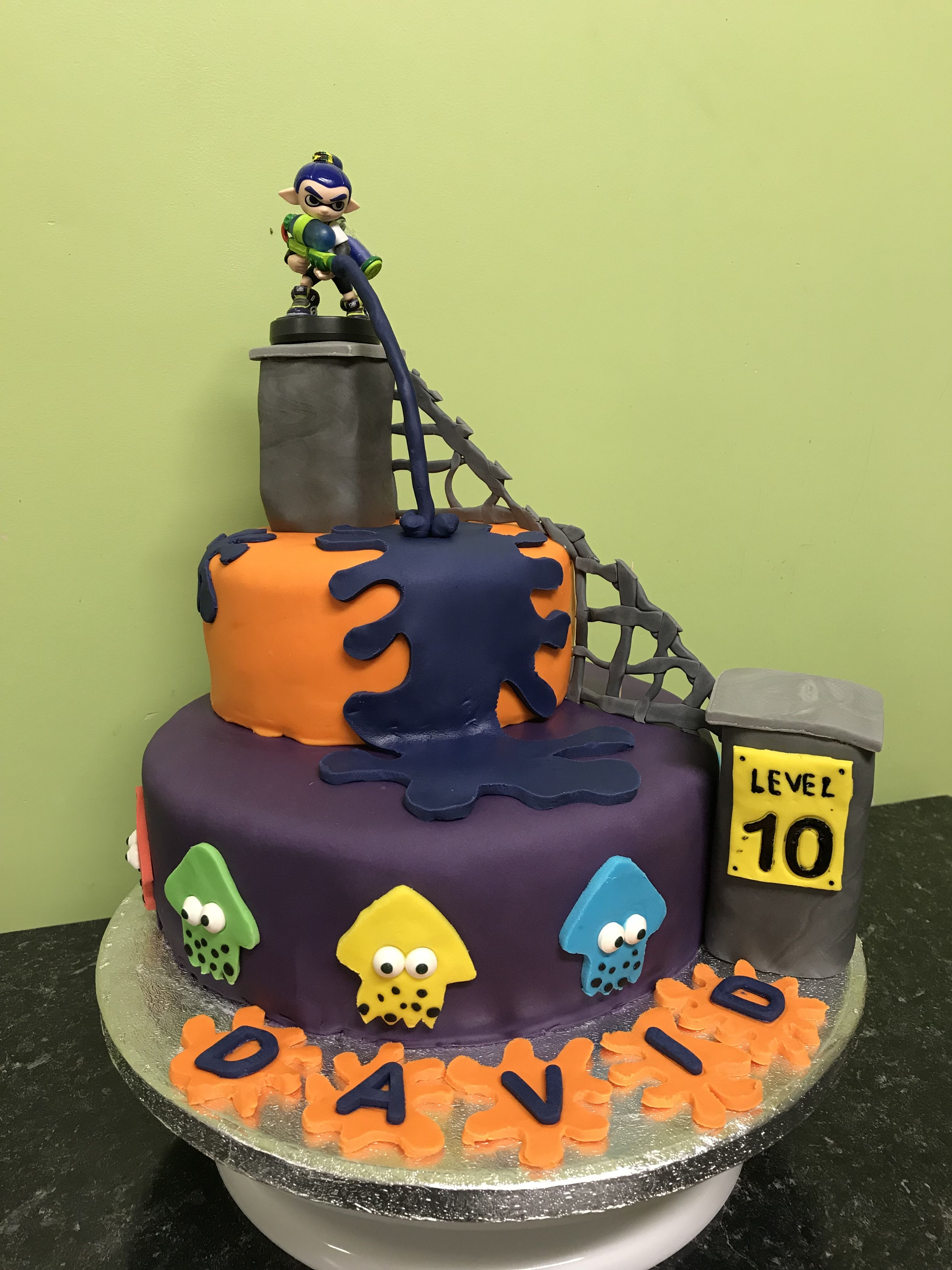 Splatoon cake | Desserts, Cake, Food