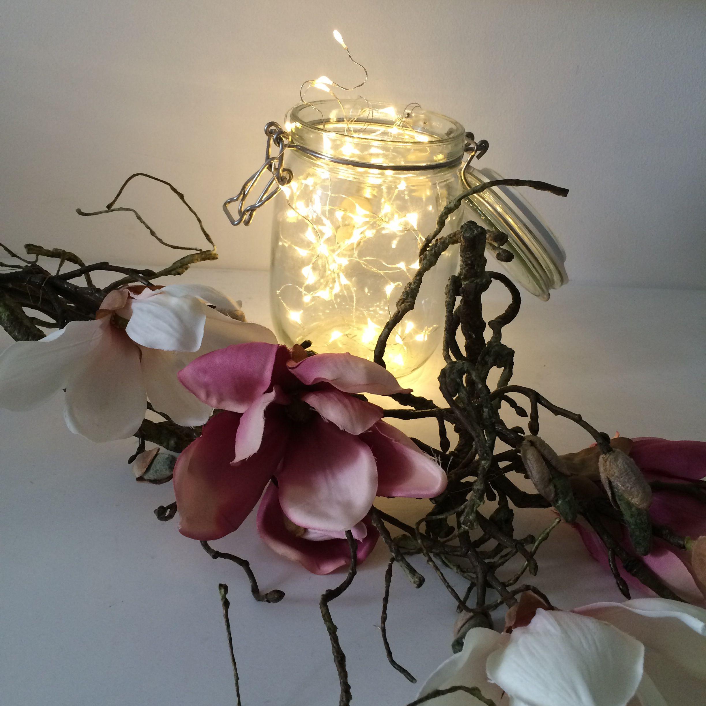 Feen licht lichterkette fairy lights string lights jar for Raumgestaltung hochzeit