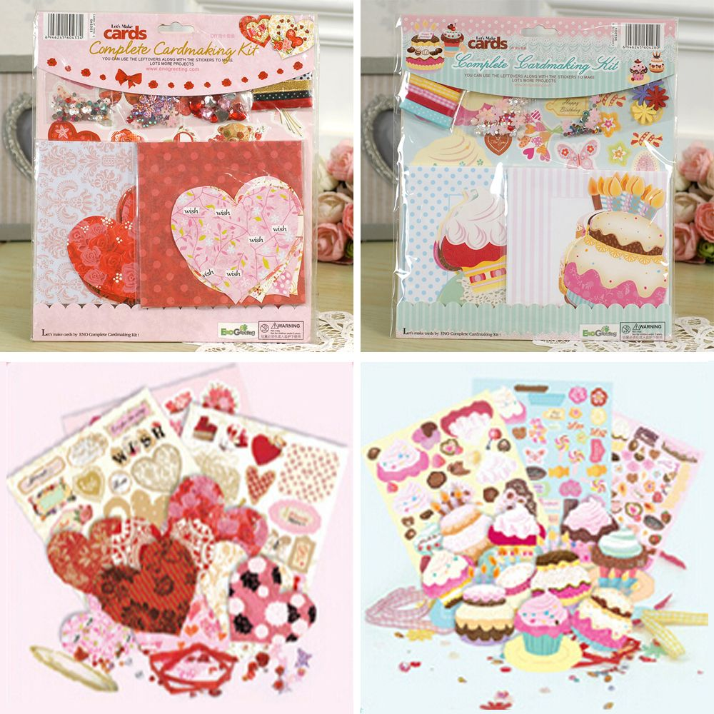 Cute Diy Birthday Cupcake Shapes Cards Valentine Heart Shapes Cards Greeeting Card Making Kit For Kid Card Making Kits Cool Birthday Cards Handmade Card Making