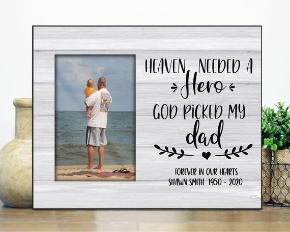 Sympathy Frame / In Loving MEMORY picture Frame / in remembrance gift / Personalized Memorial gift /