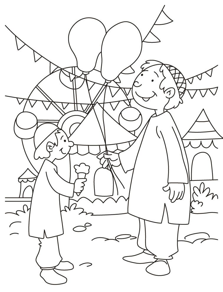 Eid Coloring Page Download Free Eid Coloring Page For Kids
