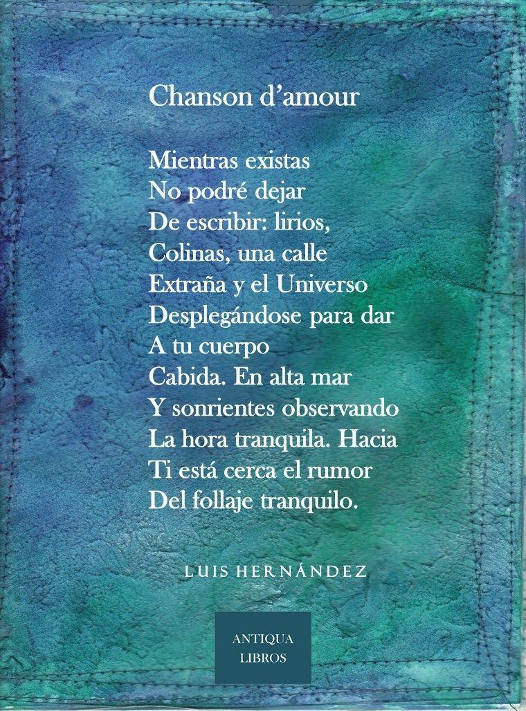 Chanson Damour Luis Hernández Literatura Peruana