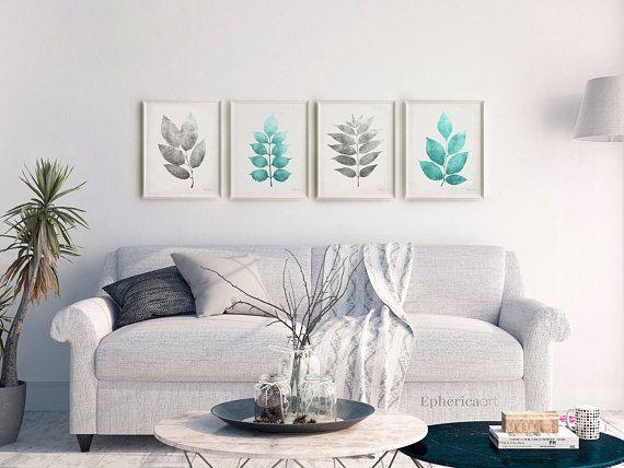 4 Piece Art Download, Living Room Print Set 16x20 Wall Art Set of 4 ...