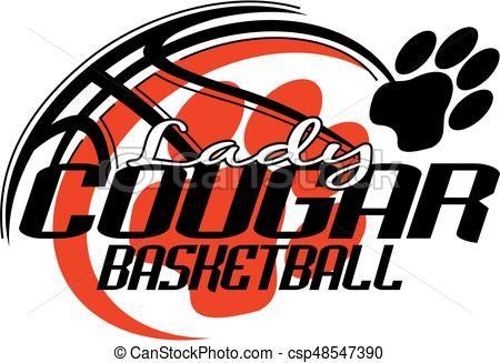 Line Art Vector Design : Vector lady cougar basketball stock illustration royalty free
