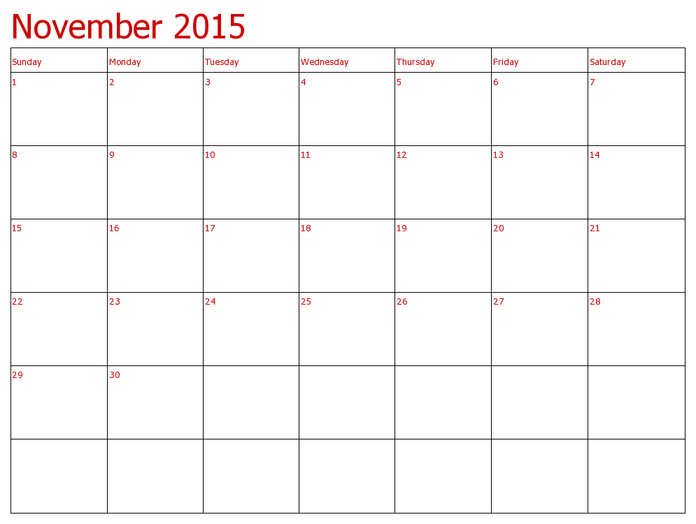 Feel Free To Download Calendar 2015 November And December And