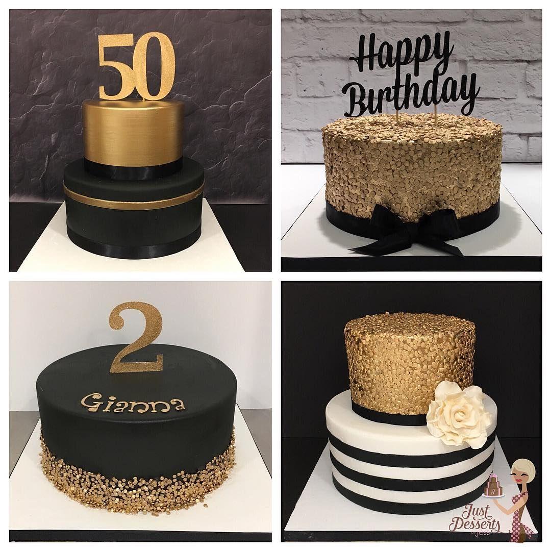 Black And Gold Celebration Cakes Cake Customcakes Birthdaycake