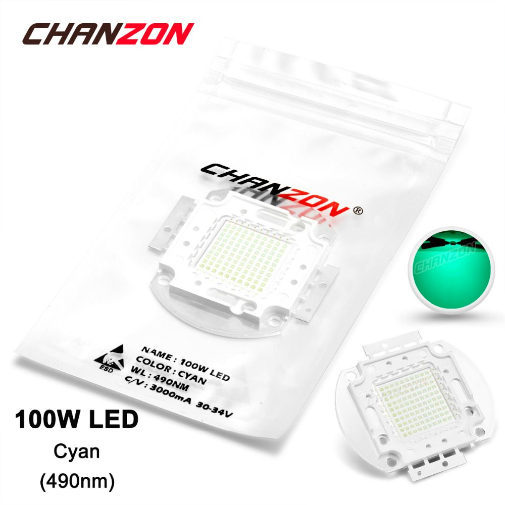 100w Led Light Bulb Lamp Cyan 490nm 30 34v 3000ma 5000 6000lm High Power 100 W Watt 490 Nm Epileds Chip Integrated 100watt C With Images Led Light Bulb Light Bulb Lamp Led