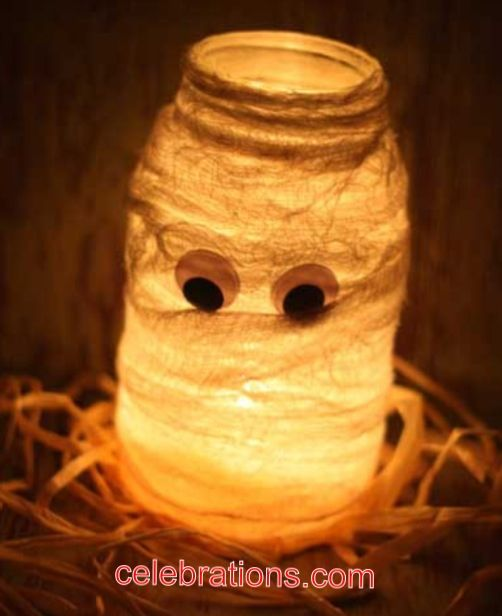 Use a flameless candle for safety Halloween decorations - not so scary halloween decorations