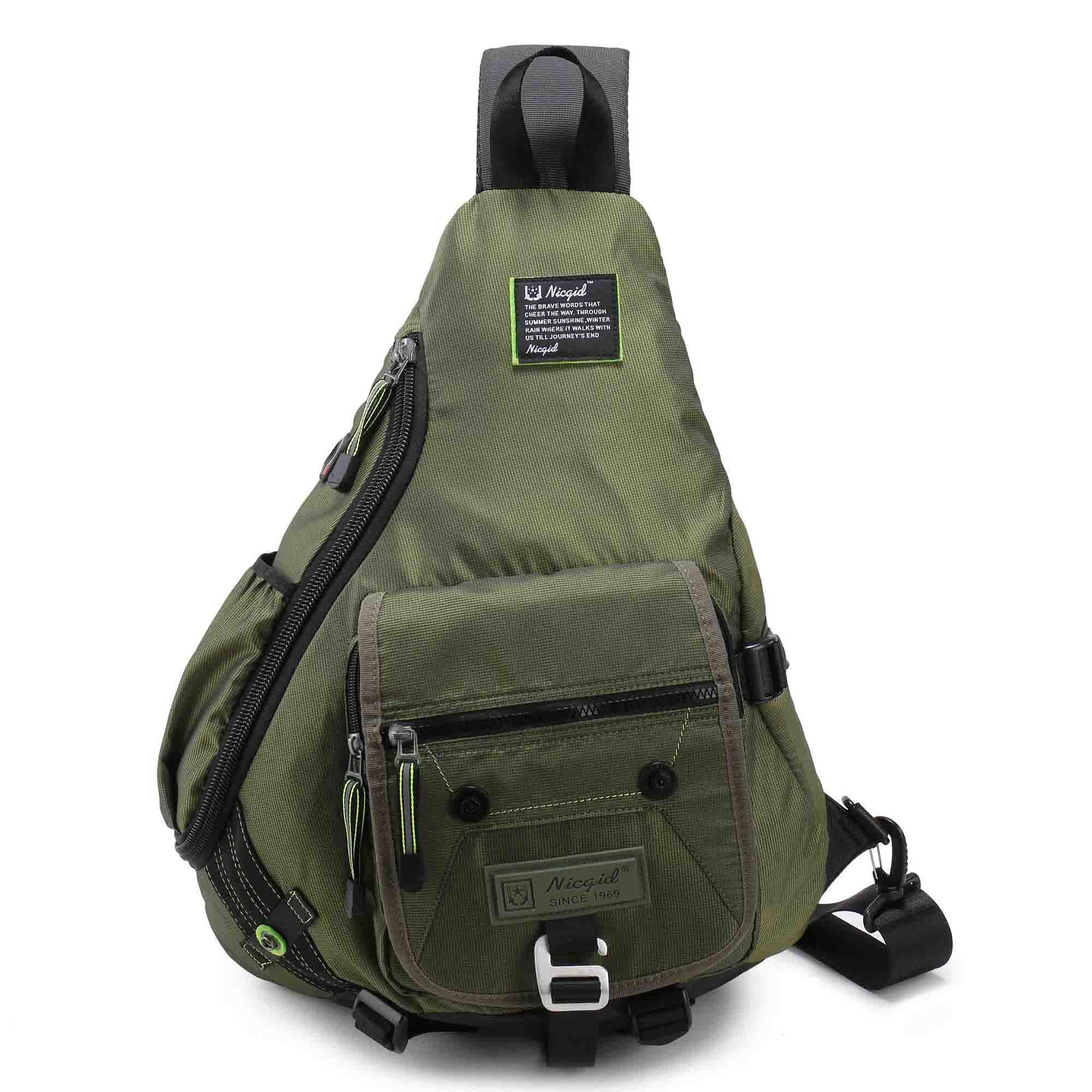 Brave Waterproof Military Tactical Sling Chest Bag Travel Hiking Molle Cross Body Messenger Backpack Shoulder Bag Casual Day Pack Sports & Entertainment Climbing Bags