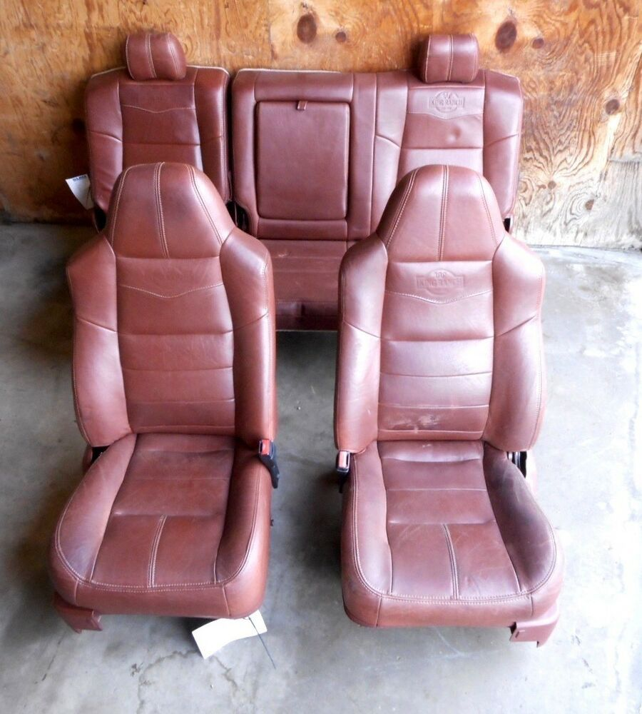 hight resolution of 2008 ford f250 super duty king ranch brown leather seats front rear oem