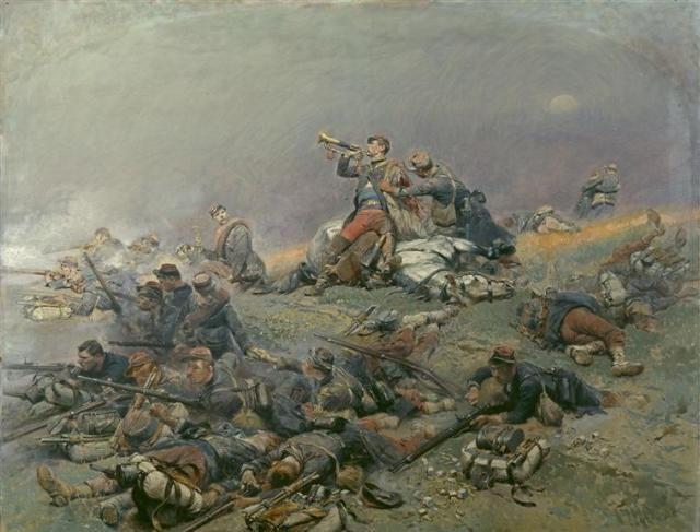 Mort du Commandant Berbegier à la bataille de Saint-Privat, le 18 août 1870   Jean Baptiste Edouard Detaille