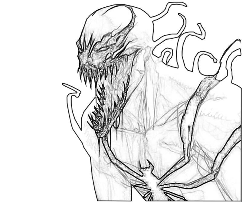 Spiderman Carnage Coloring Pages In 2020 Coloring Pages Carnage Coloring Pictures