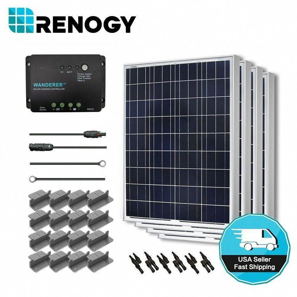 Renogy 400 Watt 12 Volt Polycrystalline Solar Starter Kit For Off Grid Solar System Solarpanels Solarenergy Solarpower In 2020 Solar Kit Solar Energy Solar Technology