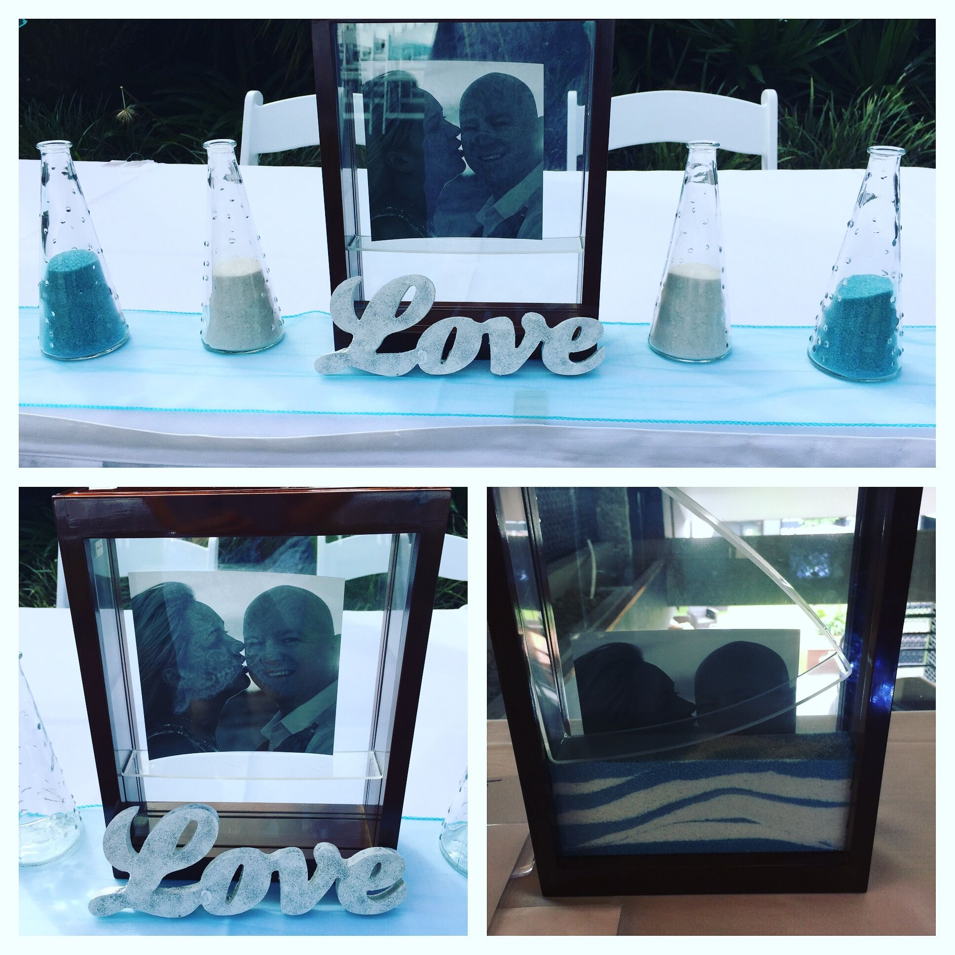 Sand ceremony in picture frame