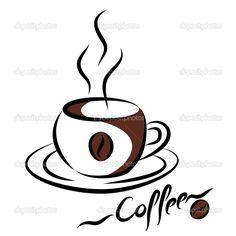 Resultado De Imagen De Dibujos De Cafeteras Y Tazas Kahve Ahsap Yakma Tasarim