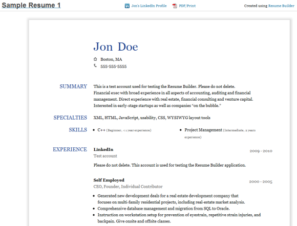 linkedin resume builder http www jobresume website linkedin