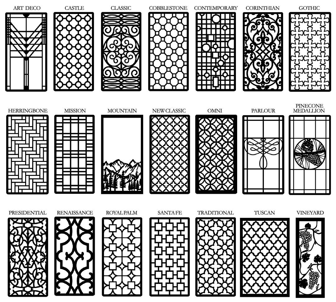 Metal Work Glass Cabinet Doors Window Grill Design Diy