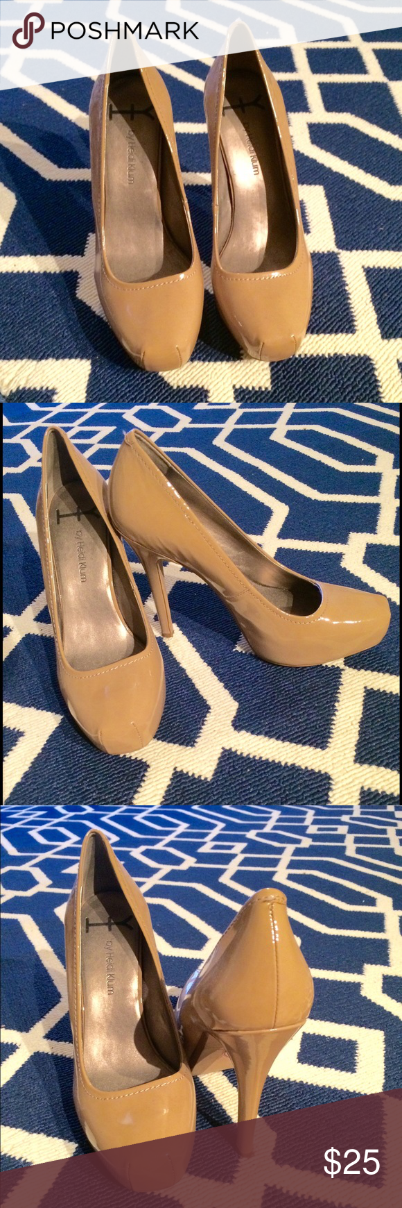 Hedi Klum Nude Pumps Nude pumps are a staple in anyone's closet. Get these like-new nudes with a bit of attitude. No scratches or scuffs - fits like a US 8.5. Shoes Heels
