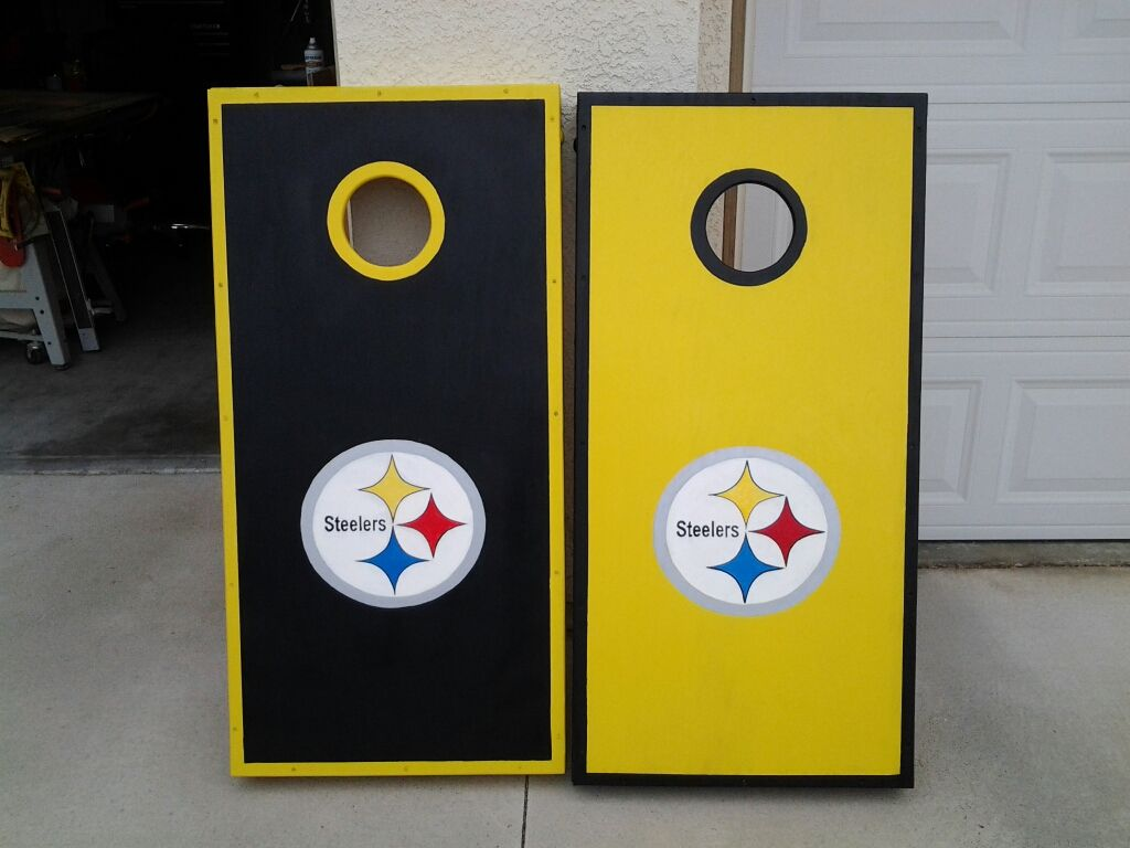 Steelers Bedroom Ideas Steelers Corn Hole Boards  First Of Two Commissioned Steelers