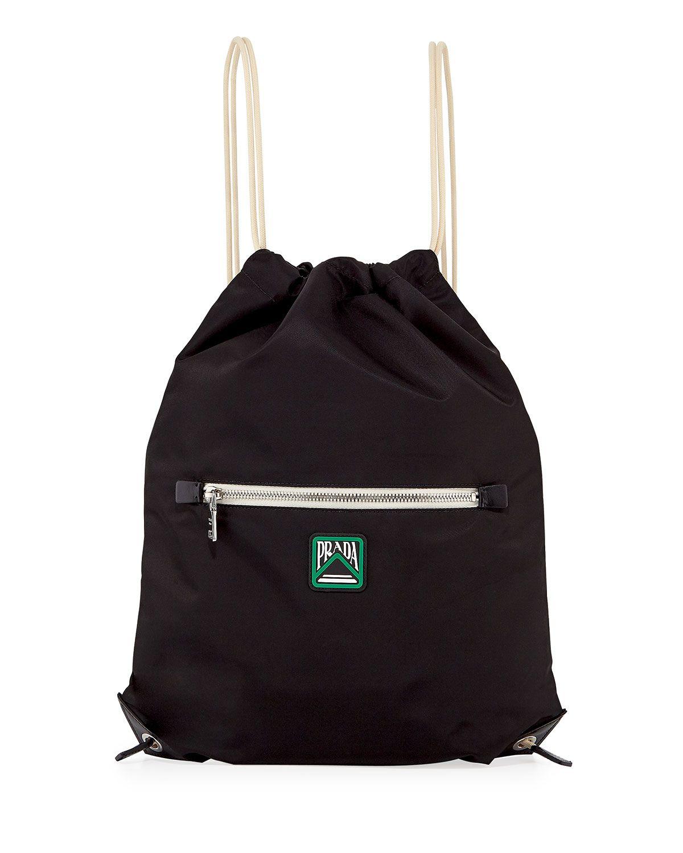 cbbb10a26471 PRADA MEN S RUCKSACK DRAWSTRING-TOP BACKPACK.  prada  bags  leather  nylon   backpacks