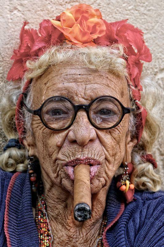 Havana Elder smoking a cigar.