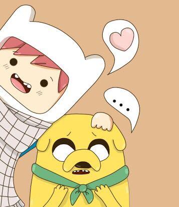 Natsu y Happy versión Hora de Aventura