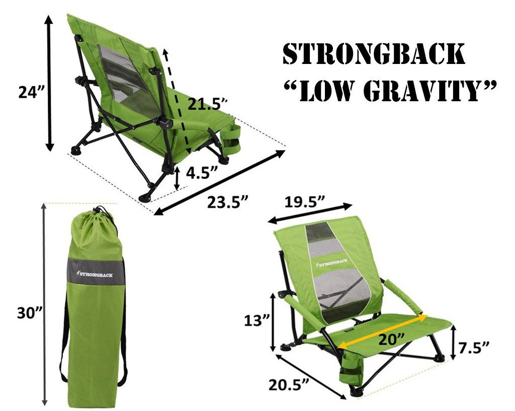 Strongback Low Gravity Beach Chair With Lumbar Support Beach Gravity Strongback Support Beach Chairs Best Beach Chair Lumbar Support