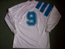 e7f1c075ab3 1991 1992 Olympique Marseille  9 Papin Home L s Football Shirt Maillot  France Adults Large