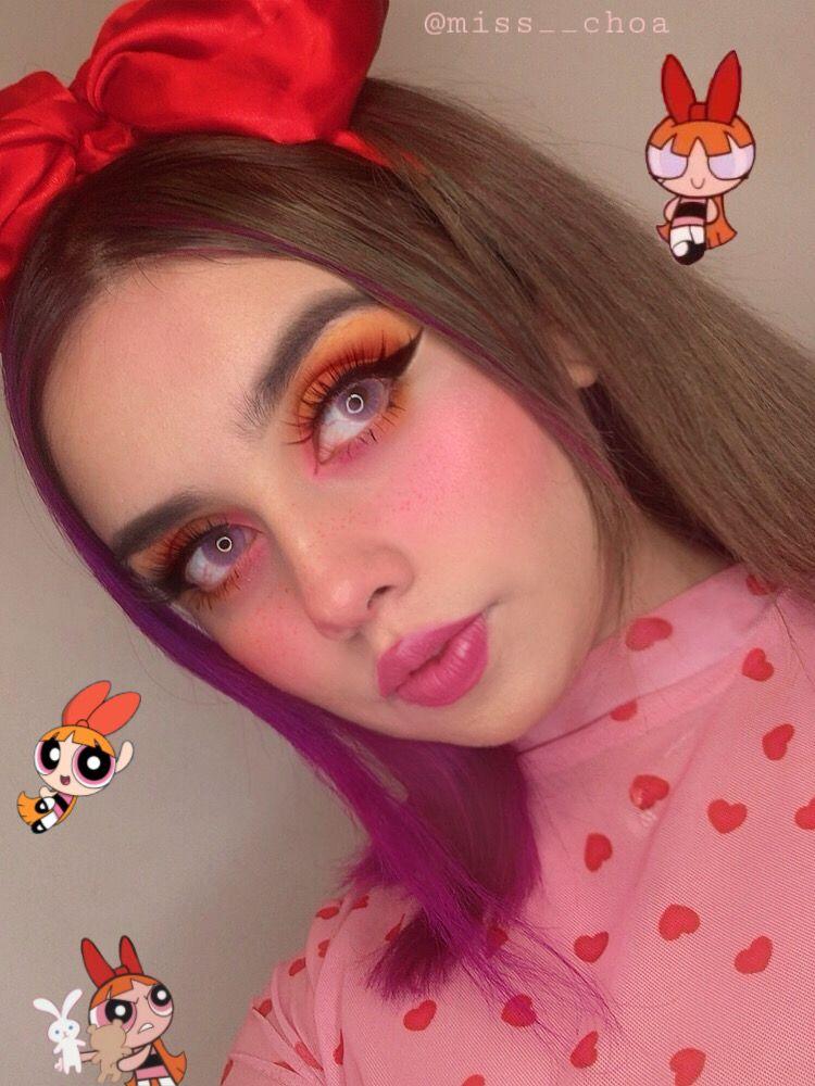 powerpuff girls makeup en 2020 Maquillaje de ojos disney