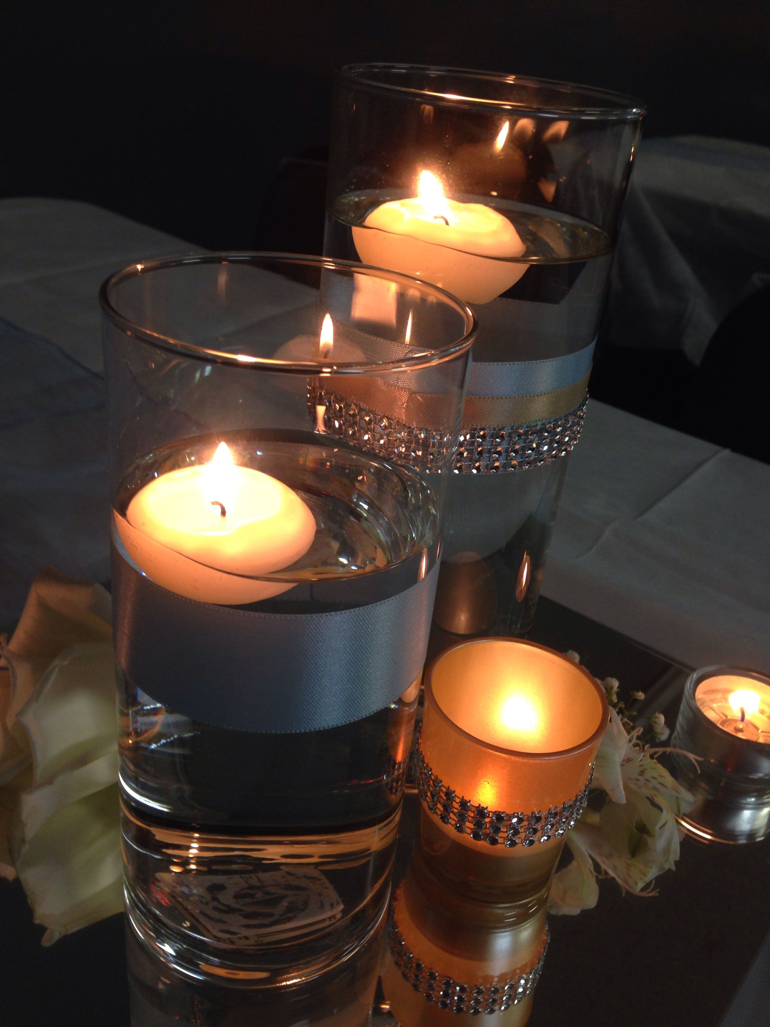 Bright vases trays dishes aroma lamps mirrors in beautiful frames - Floating Candles