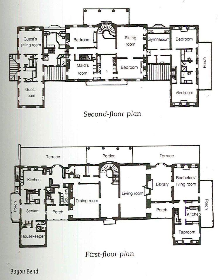 Bayou Bend Houston How To Plan Vintage House Plans Luxury Floor Plans