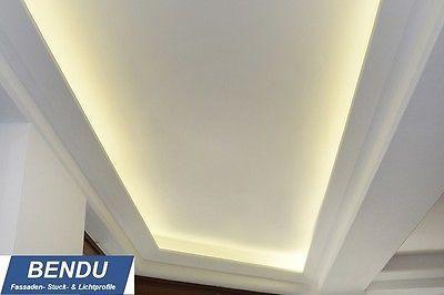 Spectacular Details zu SPARPAKET BENDU Stuckleisten LED Lichtprofil f r indirekte Beleuchtung der Decke