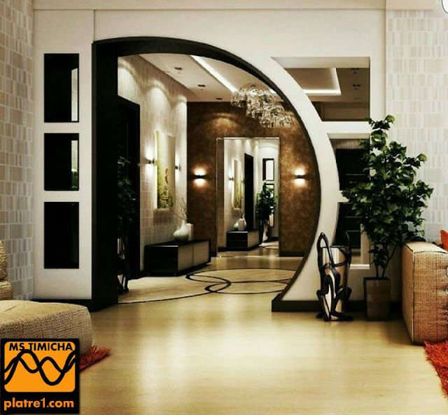 Societe Decoration Ms Timicha Decor Arc Plafond Design House Design Living Room Designs