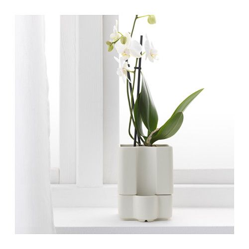 S tcitron self watering plant pot indoor outdoor white for Ikea article number