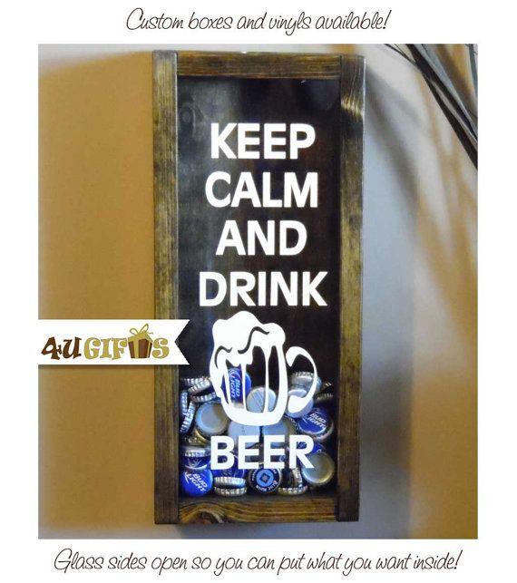 Keep Calm And Drink Beer Bottle Cap Holder Beer Drinkers