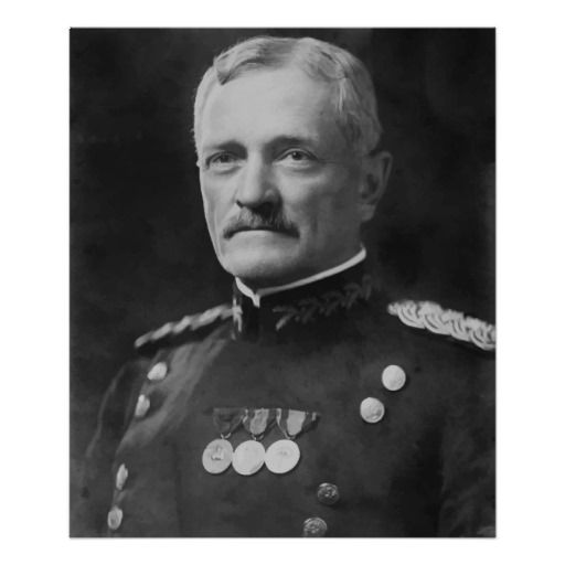 Gen John J Pershing, officer in the United States Army who led the American Expeditionary Forces in World War I. member of Lincoln Lodge No. 19,  Nebraska
