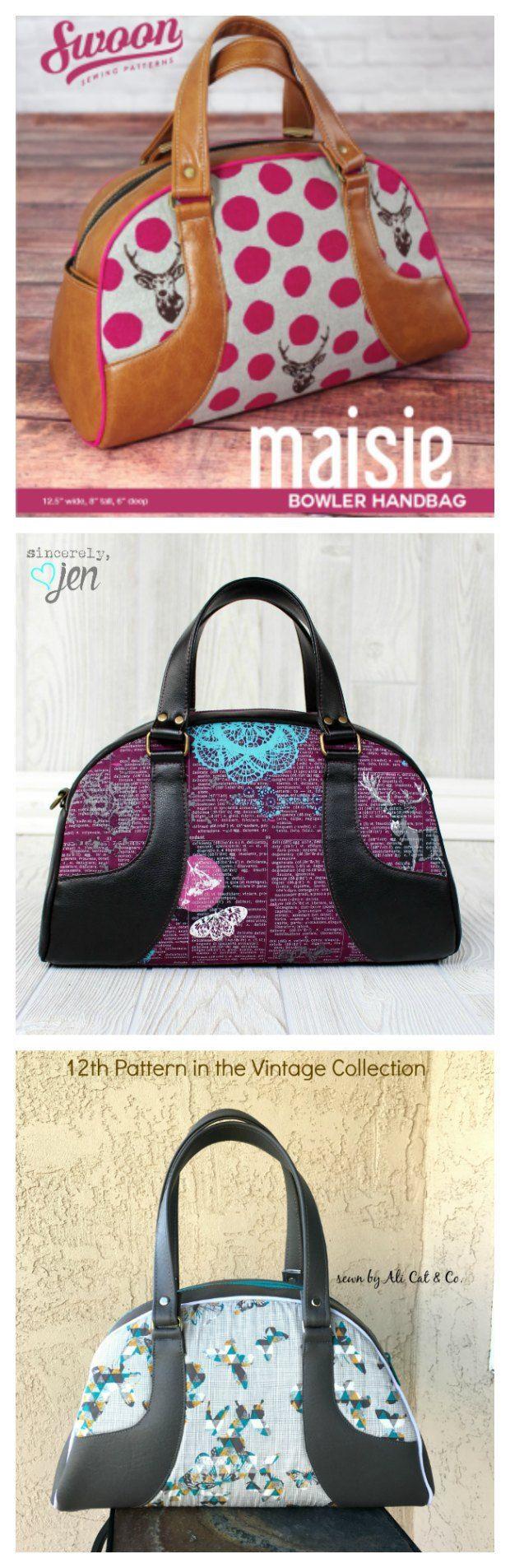 Maisie Bowler Handbag | Taschen nähen, Tasche nähmuster und Nähen