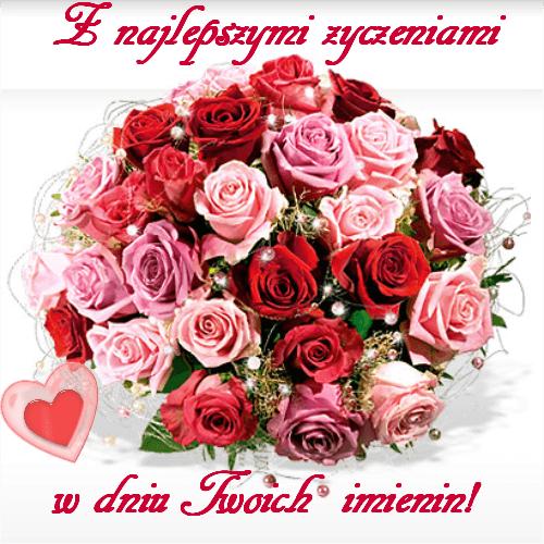 Kartka Pod Tytulem Z Najlepszymi Zyczeniami W Dniu Twoich Imienin Happy Birthday Wishes Happy Birthday Wishes Cards Birthday Wishes Cards