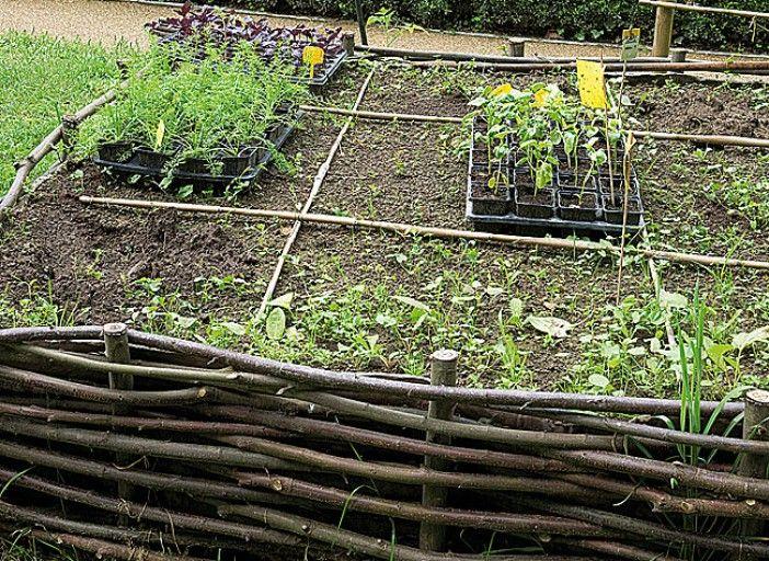 Fabriquer un carr potager en plessis d 39 osier jardins noisetier et potager - Fabriquer un carre potager ...
