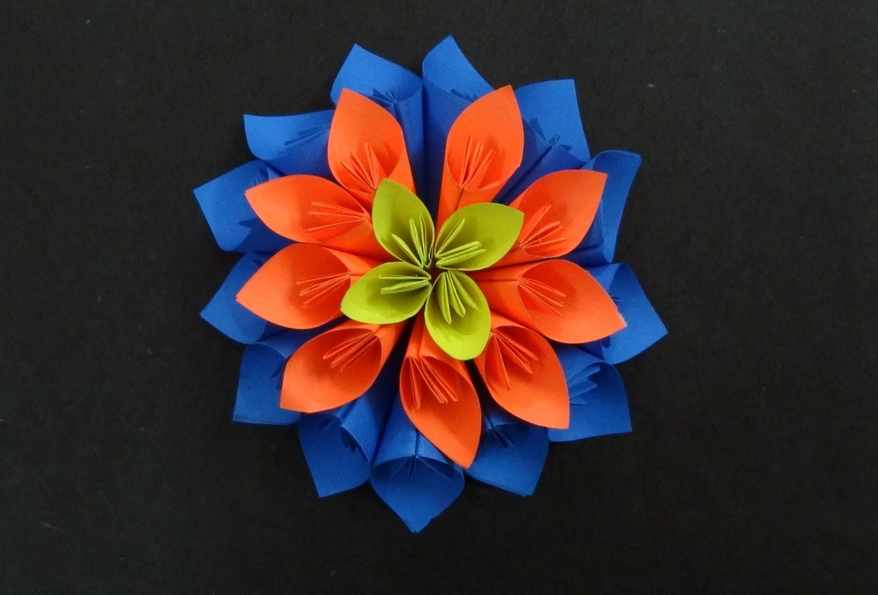 paper flower tutorial on how to make a beautiful multi