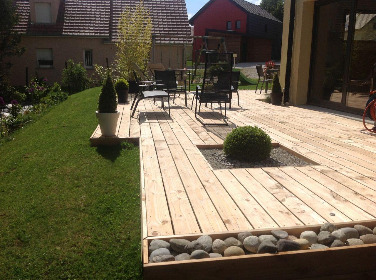 La Maison Cube Par Choupie90 Sur Forumconstruire Com Amenagement Jardin Terrasse Jardin Jardin Exterieur