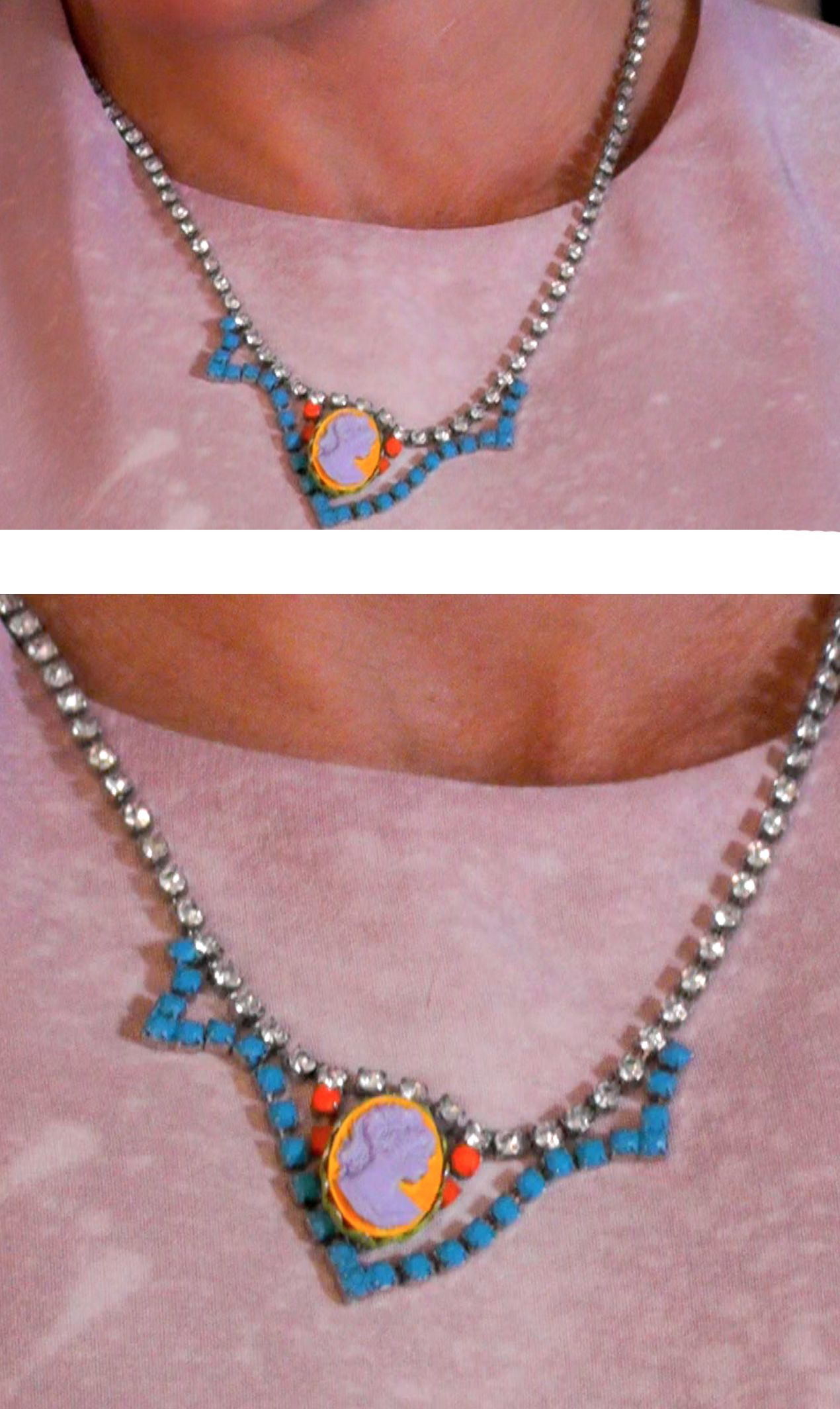 Kelly Ripa\'s Tom Binns Cameo Necklace. A gift from Husband Mark ...
