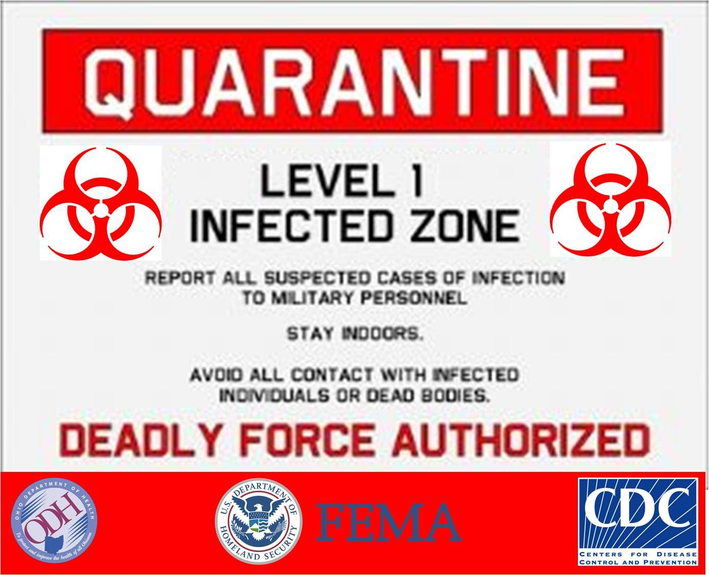 photo regarding Quarantine Sign Printable identify 2013 halloween Designs Signs or symptoms