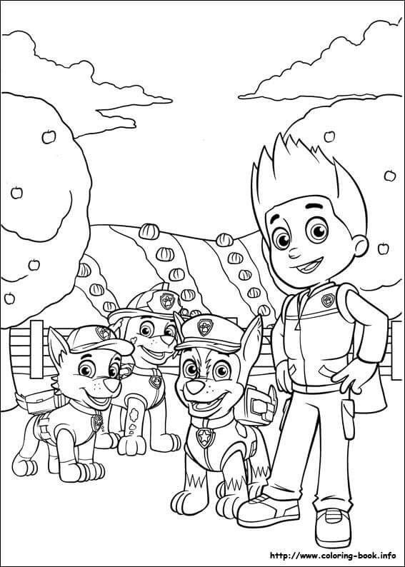 Colouring Page | Kids - Paw Patrol | Colores, Patrulla Canina, Dibujos