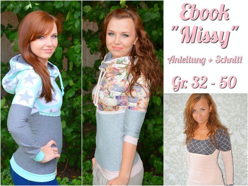 Ebook Damen Hoodie Missy | Frauenkleidung nähen, Missy
