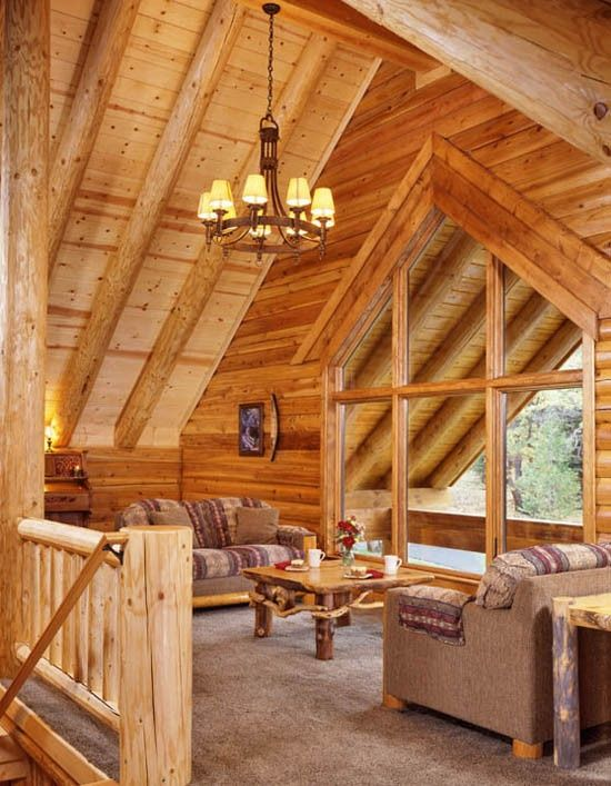 Loft Space Rustic House Log Homes Log Home Decorating