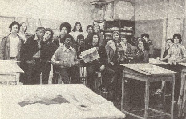 Commercial art class Circa 1975