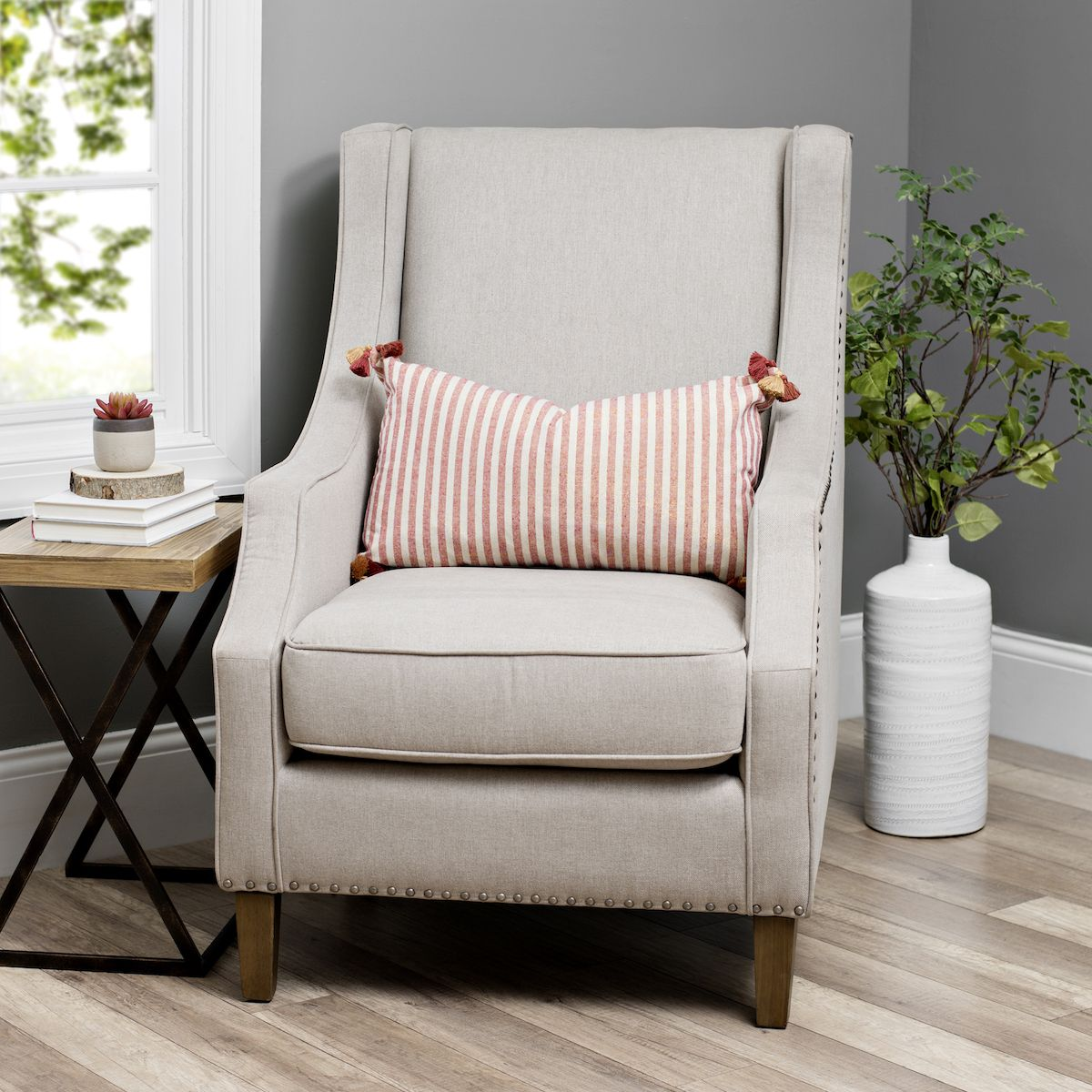 Accent Chair Pillow Side Table Cozy Corner Create This Setup In Your Bedroom For A Space To Relax And Get Away From I Accent Chairs Chair Guest Bedrooms