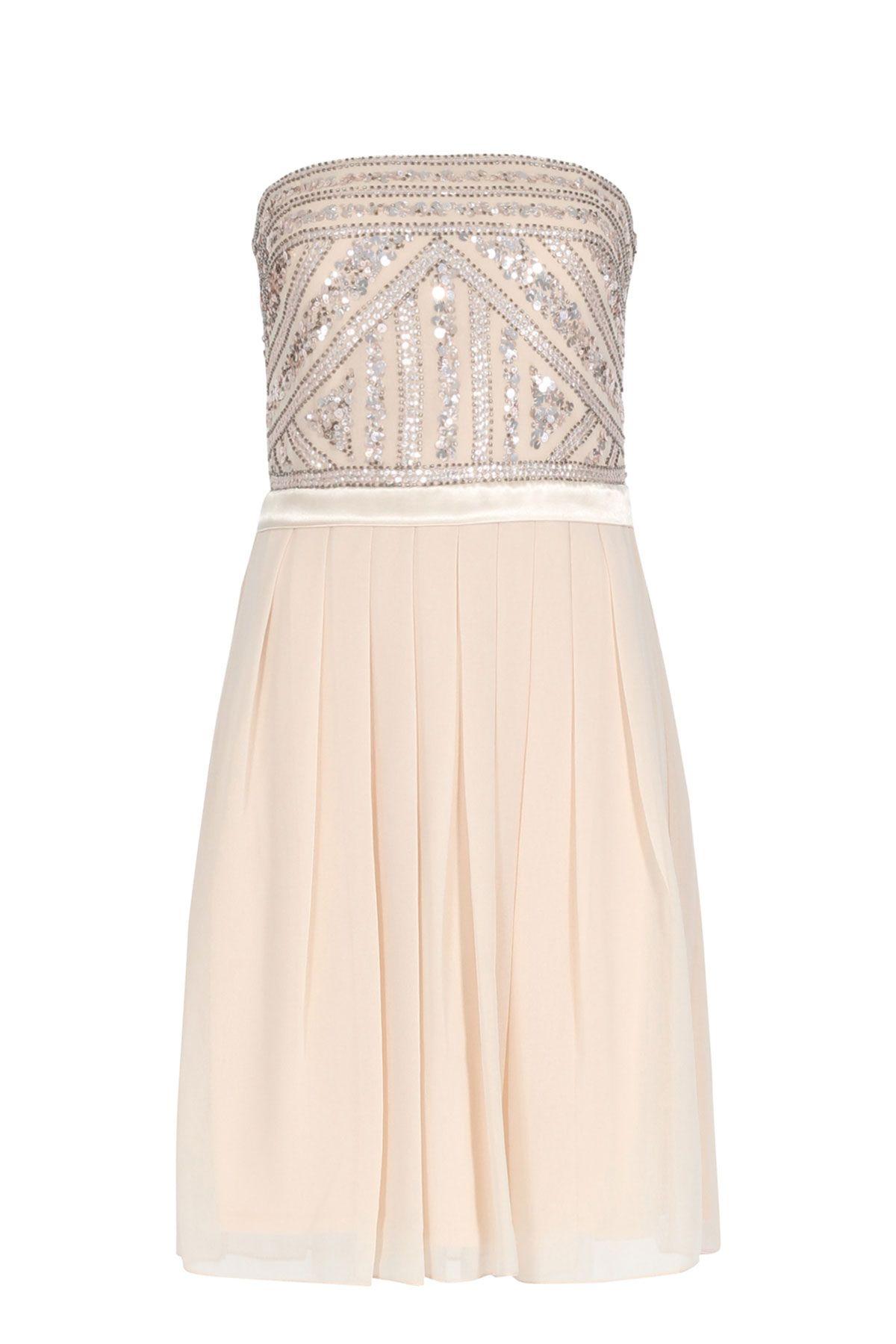 Young Couture by BARBARA SCHWARZER Kleid mit Perlen- und ...